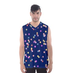 Playful Confetti Men s Basketball Tank Top