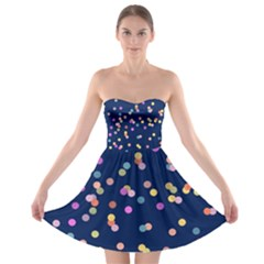 Playful Confetti Strapless Bra Top Dress