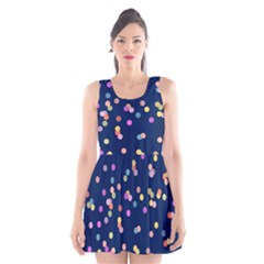 Playful Confetti Scoop Neck Skater Dress