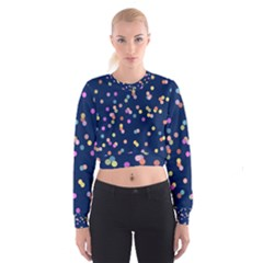 Playful Confetti Women s Cropped Sweatshirt