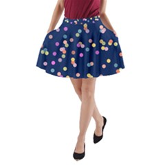 Playful Confetti A Line Pocket Skirt