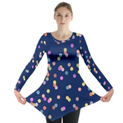 Playful Confetti Long Sleeve Tunic