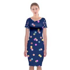 Playful Confetti Classic Short Sleeve Midi Dress by DanaeStudio