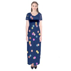 Playful Confetti Short Sleeve Maxi Dress