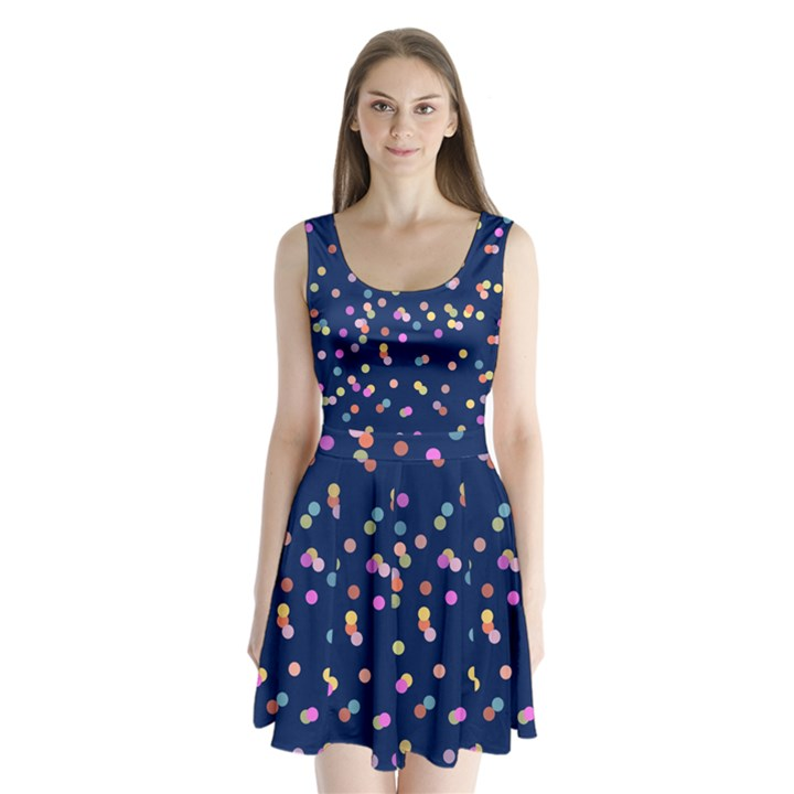 Playful Confetti Split Back Mini Dress