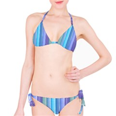 Provence Fields Lavender Pattern Bikini Set