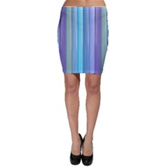 Provence Fields Lavender Pattern Bodycon Skirt