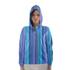 Provence Fields Lavender Pattern Hooded Wind Breaker (women)