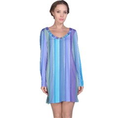 Provence Fields Lavender Pattern Long Sleeve Nightdress