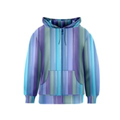 Provence Fields Lavender Pattern Kids  Zipper Hoodie