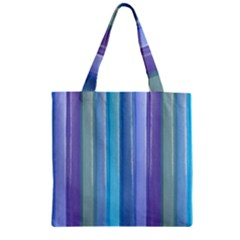 Provence Fields Lavender Pattern Zipper Grocery Tote Bag