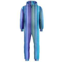 Provence Fields Lavender Pattern Hooded Jumpsuit (men)