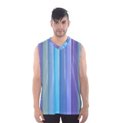Provence Fields Lavender Pattern Men s Basketball Tank Top