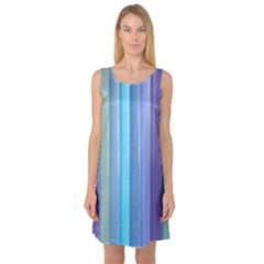 Provence Fields Lavender Pattern Sleeveless Satin Nightdress
