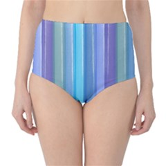 Provence Fields Lavender Pattern High Waist Bikini Bottoms