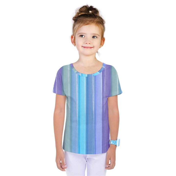 Provence Fields Lavender Pattern Kids  One Piece Tee