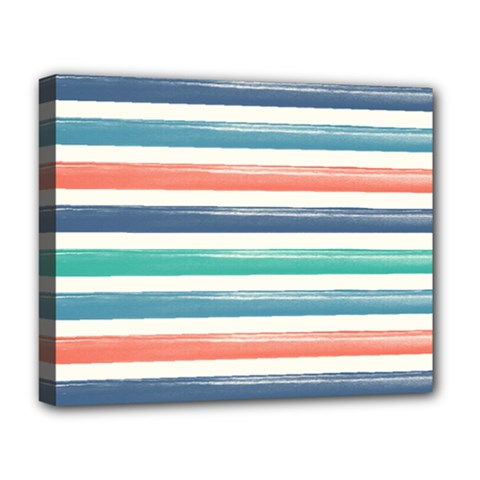 Summer Mood Striped Pattern Deluxe Canvas 20  X 16