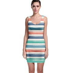 Summer Mood Striped Pattern Sleeveless Bodycon Dress
