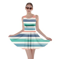 Summer Mood Striped Pattern Skater Dress