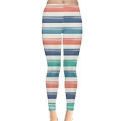 Summer Mood Striped Pattern Leggings