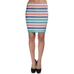 Summer Mood Striped Pattern Bodycon Skirt