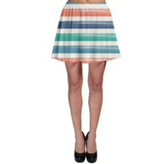 Summer Mood Striped Pattern Skater Skirt