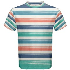 Summer Mood Striped Pattern Men s Cotton Tee