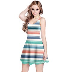 Summer Mood Striped Pattern Reversible Sleeveless Dress