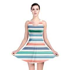 Summer Mood Striped Pattern Reversible Skater Dress