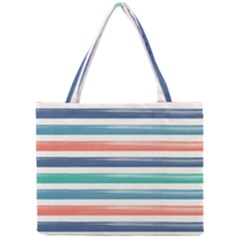 Summer Mood Striped Pattern Mini Tote Bag