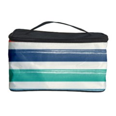 Summer Mood Striped Pattern Cosmetic Storage Case