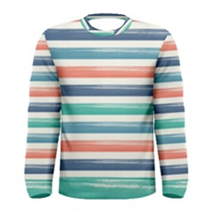 Summer Mood Striped Pattern Men s Long Sleeve Tee