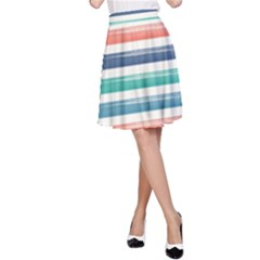 Summer Mood Striped Pattern A Line Skirt