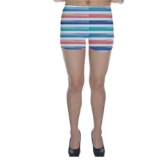 Summer Mood Striped Pattern Skinny Shorts