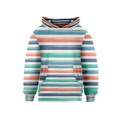 Summer Mood Striped Pattern Kids  Pullover Hoodie