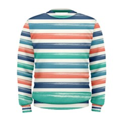 Summer Mood Striped Pattern Men s Sweatshirt