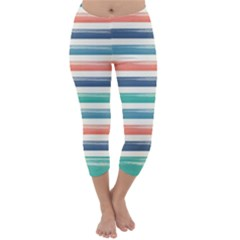 Summer Mood Striped Pattern Capri Winter Leggings