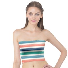 Summer Mood Striped Pattern Tube Top