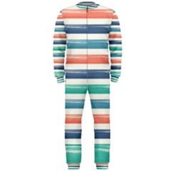 Summer Mood Striped Pattern Onepiece Jumpsuit (men)