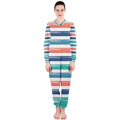 Summer Mood Striped Pattern Onepiece Jumpsuit (ladies)