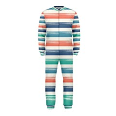 Summer Mood Striped Pattern Onepiece Jumpsuit (kids)