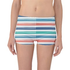 Summer Mood Striped Pattern Boyleg Bikini Bottoms