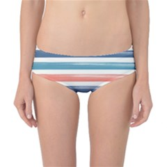 Summer Mood Striped Pattern Classic Bikini Bottoms