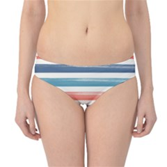 Summer Mood Striped Pattern Hipster Bikini Bottoms