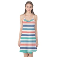 Summer Mood Striped Pattern Camis Nightgown