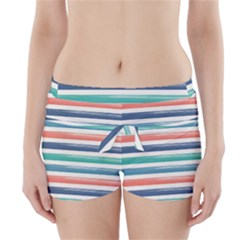 Summer Mood Striped Pattern Boyleg Bikini Wrap Bottoms