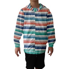 Summer Mood Striped Pattern Hooded Wind Breaker (kids)