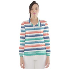 Summer Mood Striped Pattern Wind Breaker (women)