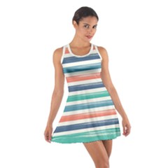 Summer Mood Striped Pattern Cotton Racerback Dress