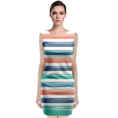 Summer Mood Striped Pattern Classic Sleeveless Midi Dress